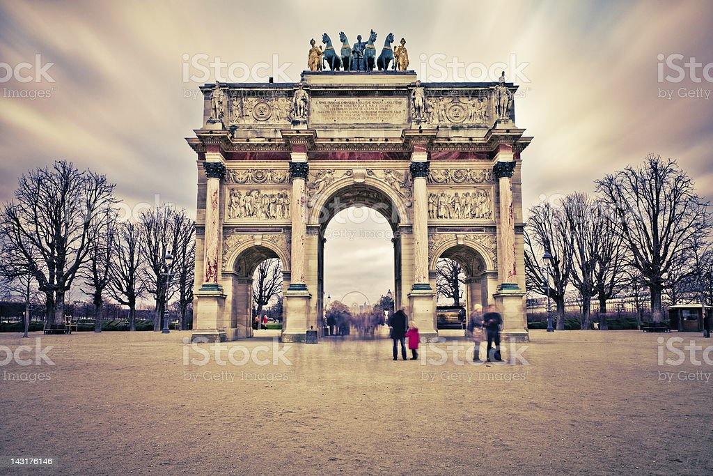 Arc de Triomphe du Carrousel, Paris Landmark stock photo