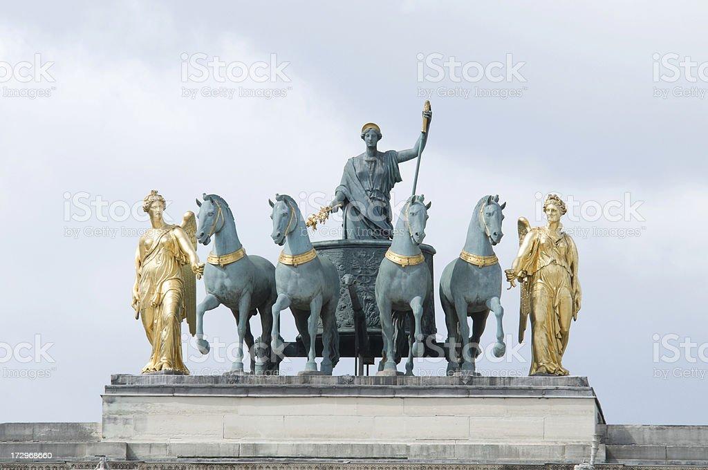 L'arc de triomphe du Carrousel, Paris stock photo