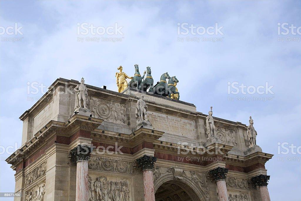 Arc de Triomphe du Carrousel, Paris royalty-free stock photo