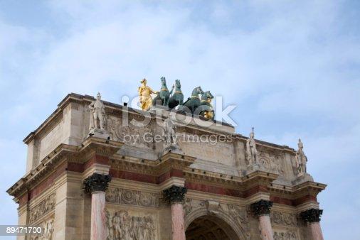 Arco Di Trionfo Parigi - Fotografie stock e altre immagini di Architettura