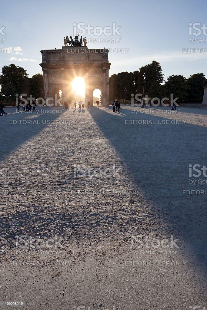 Arc de Triomphe du Carrousel royalty-free stock photo