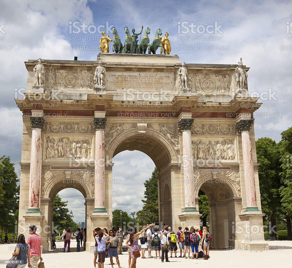 Arc de Triomphe du Carrousel. royalty-free stock photo