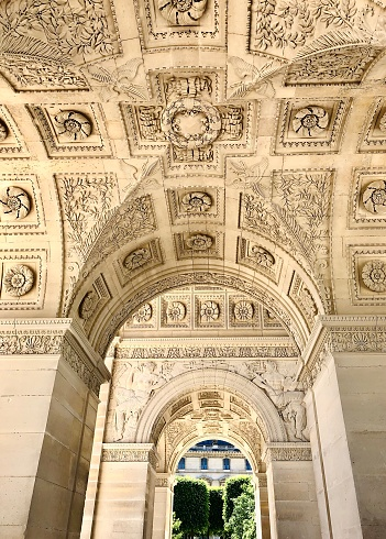 istock Arc de Triomphe du Carroussel vault, near Louvre museum. 1236097917