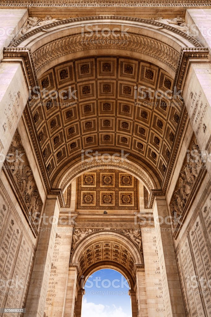 Arc de Triomphe in Paris Arch of Triumph stock photo