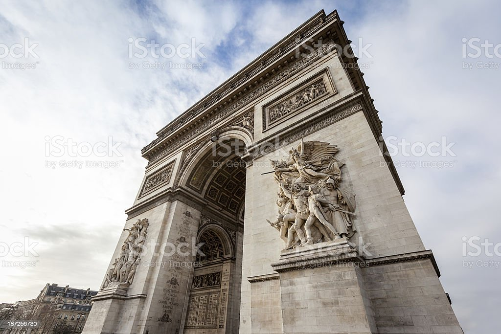 Arc de Triomphe in Paris - France royalty-free stock photo