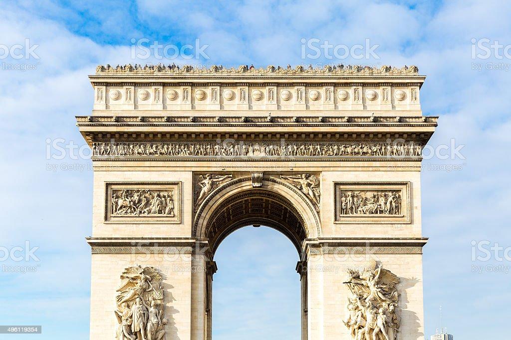 Arc de Triomphe in Paris, France stock photo