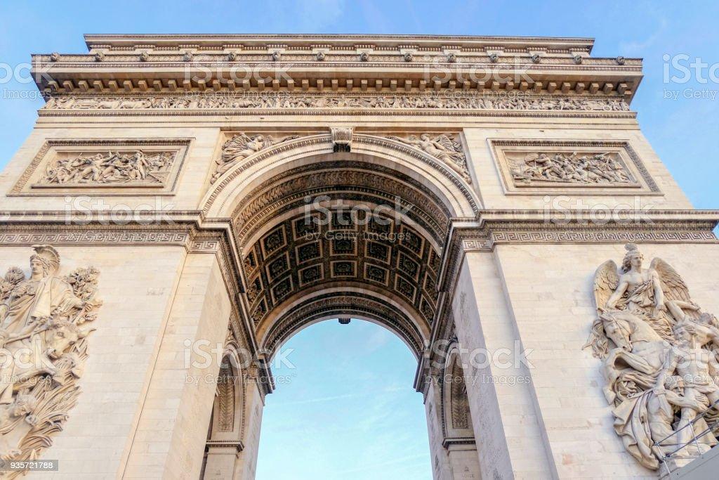 Arc de triomphe in  Paris - France stock photo