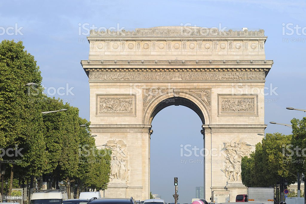 Arc de Triomphe in Paris, France - XLarge royalty-free stock photo