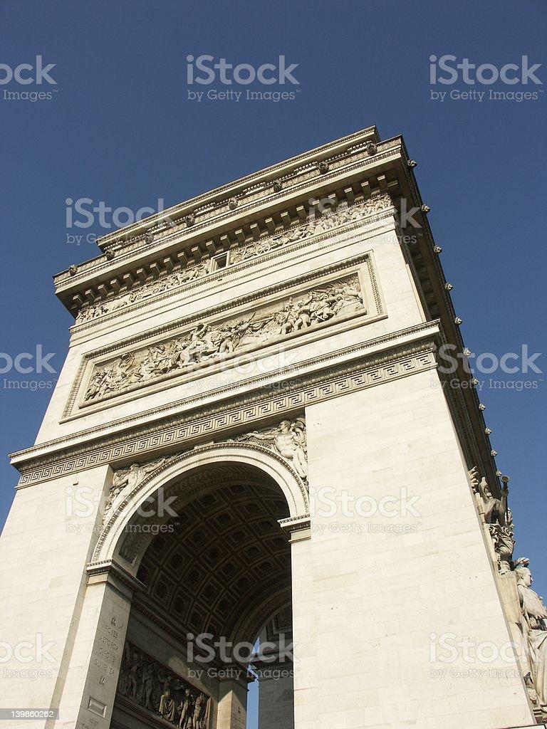 Arc de Triomphe in Paris royalty-free stock photo