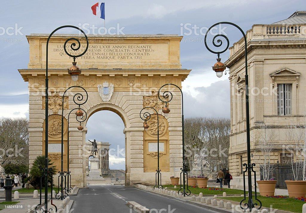 Arc de Triomphe, Montpellier royalty-free stock photo