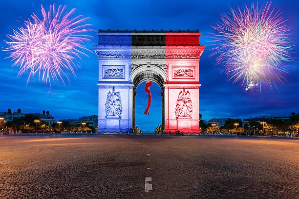 Arc de Triomphe Paris and Champs Elysees in France – Foto