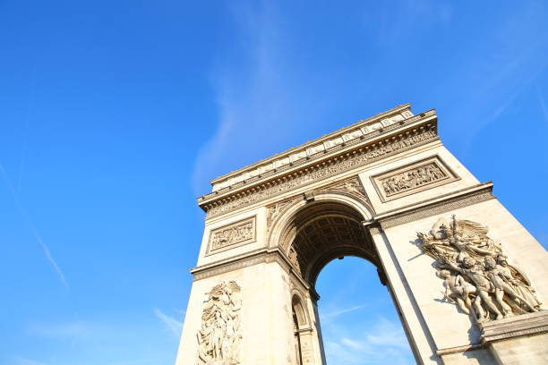 Arc de Triomphe Paris France stock photo