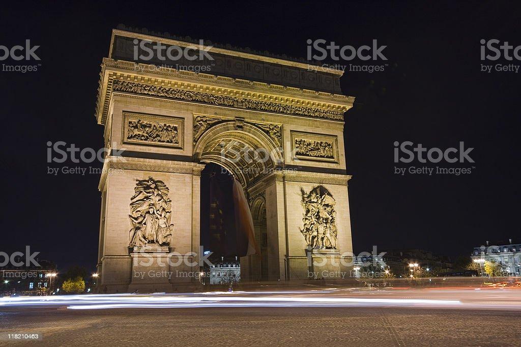 Arc De Triomphe, Paris France stock photo