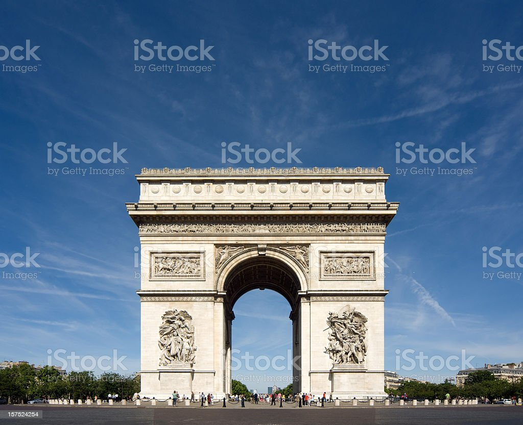 Arc de Triomphe Paris France royalty-free stock photo