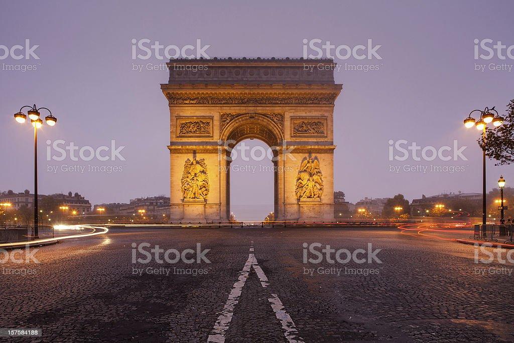 Arc de Triomphe, Paris, France royalty-free stock photo