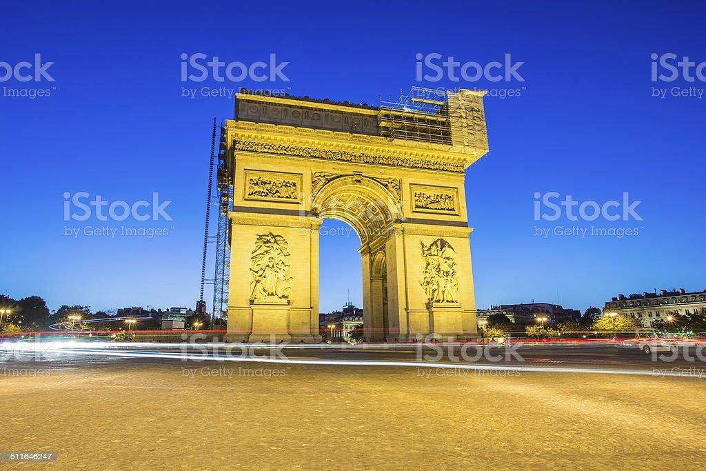 Arc de Triomphe Paris , France stock photo