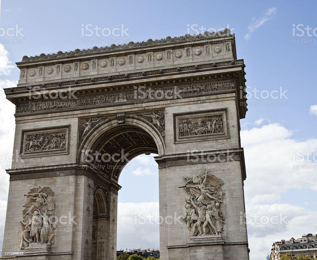 Arc de Triomphe, Paris, France, Triumphal Arch royalty-free stock photo