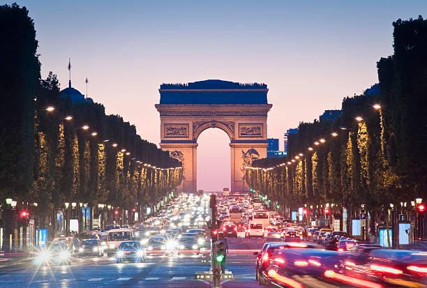 łuk triumfalny, paryż - francja zdjęcia i obrazy z banku zdjęć