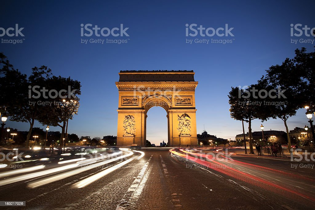 Arc de Triomphe, Paris royalty-free stock photo
