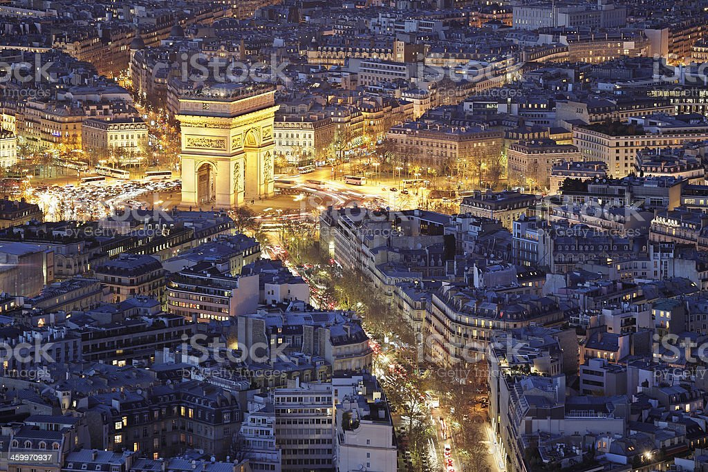 Arc de Triomphe - Paris royalty-free stock photo