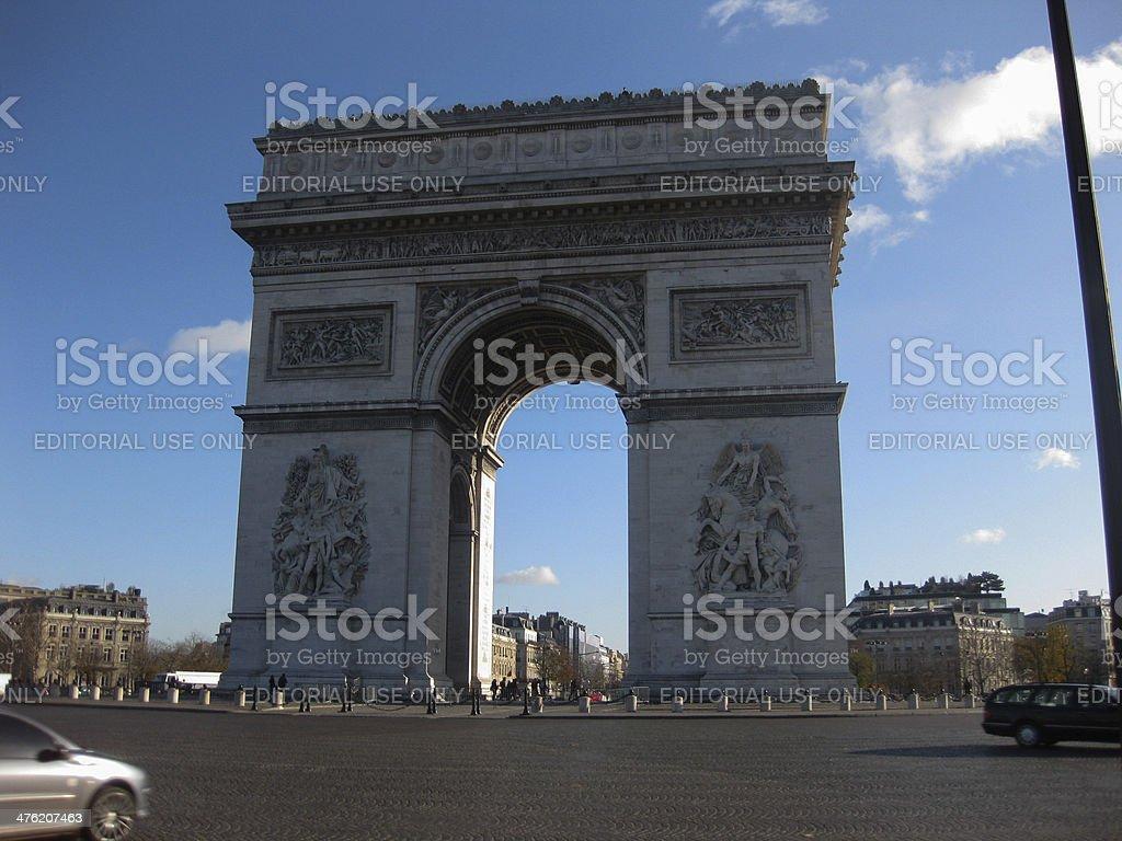 Arc de Triomphe, Paris stock photo