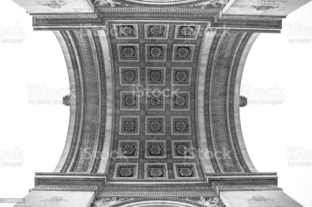 Paris, Arc de Triomphe  Lizenzfreies stock-foto