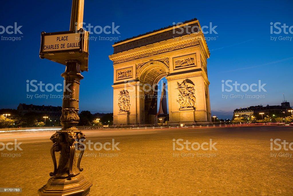 Arc de Triomphe Paris royalty-free stock photo