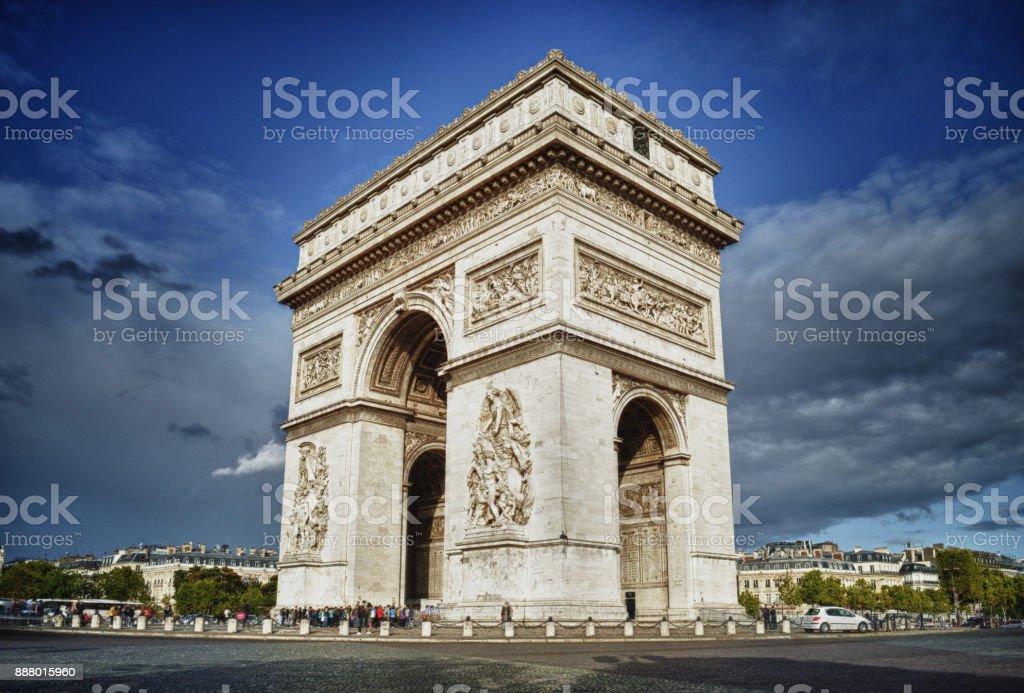 Arc de Triomphe. stock photo