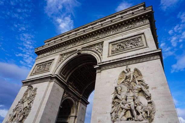 Arc de Triumph in Paris France stock photo