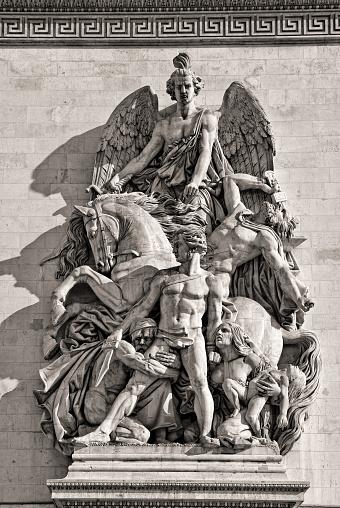 paris france september - 28 - 2006 - Arc de Triumph in Paris on a bright day