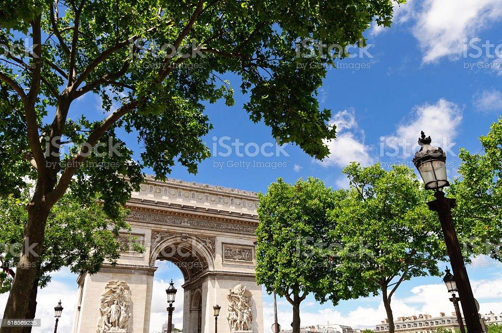 Arc de Triumph, Paris stock photo