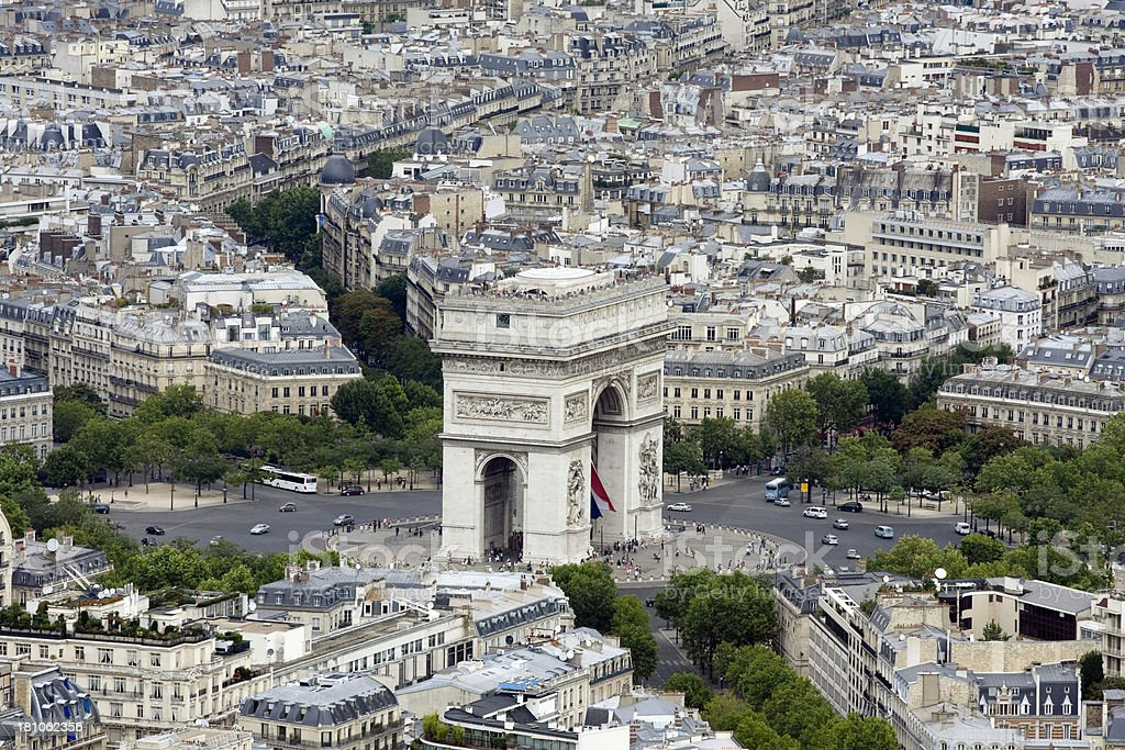 Arc de Triumph royalty-free stock photo
