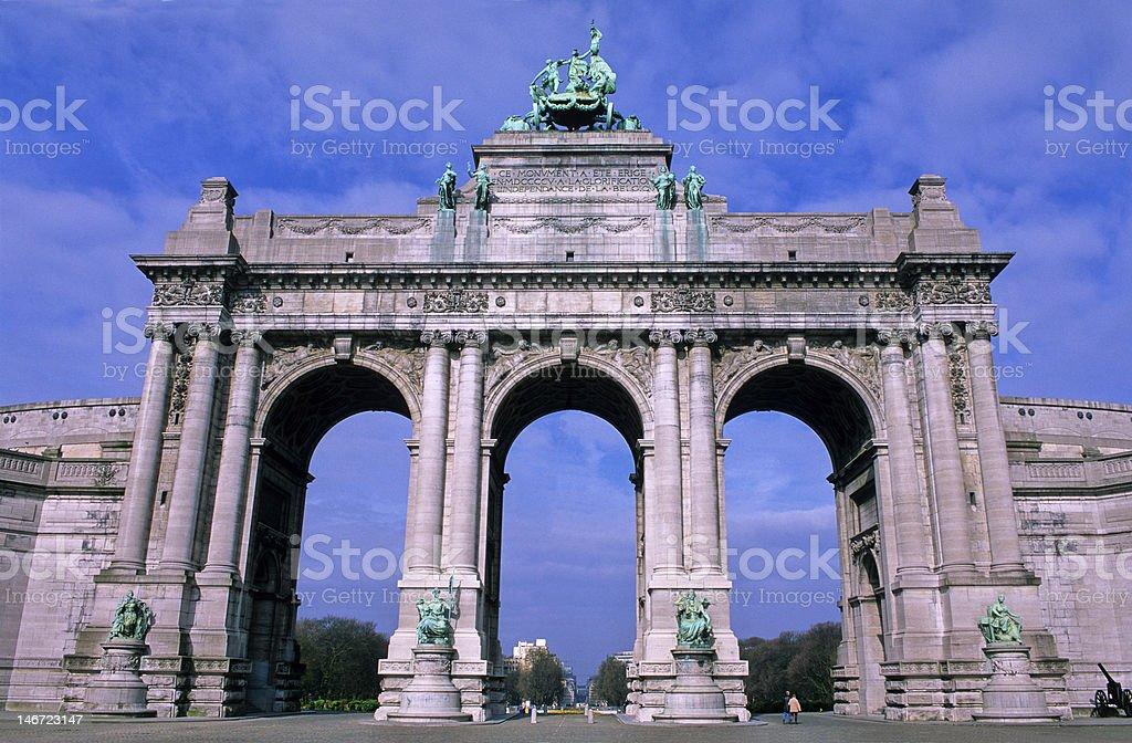 arc du cinquantenaire royalty-free stock photo