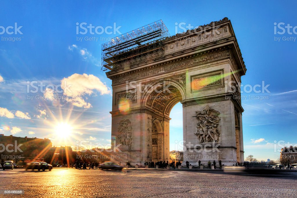Arc in Paris stock photo