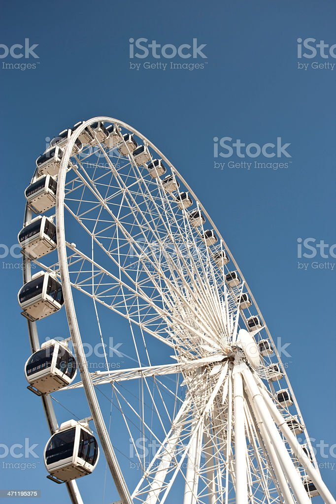 Arc of a ferris wheel royalty-free stock photo