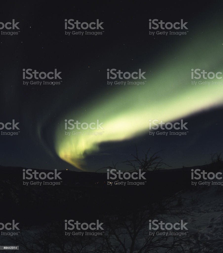 Arc of northern lights in the sky royalty-free stock photo