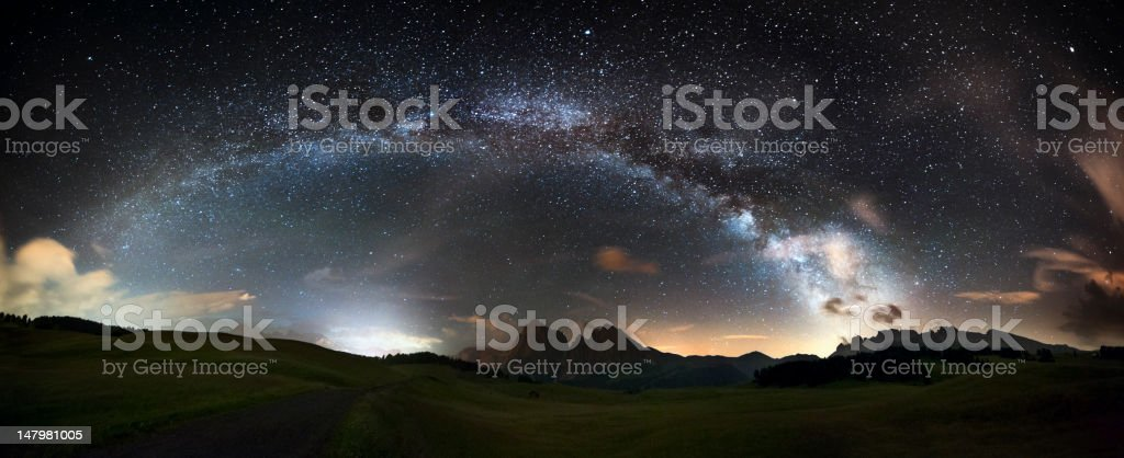 Arc of the Milky Way - Panorama XXL stock photo