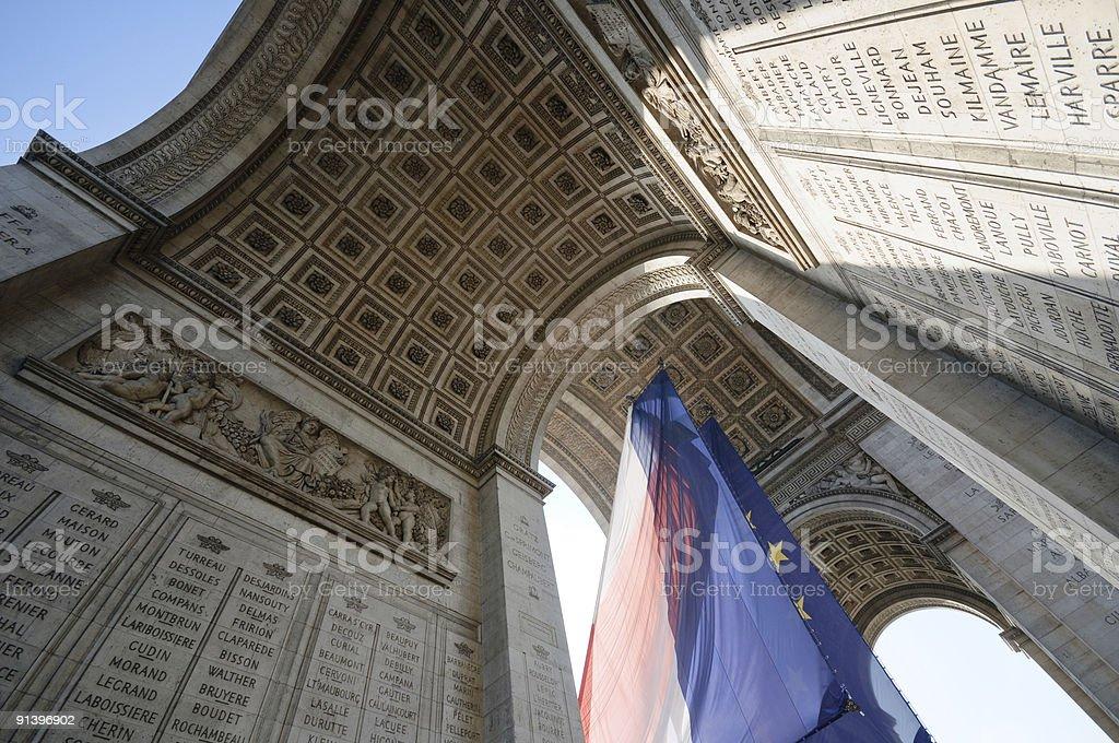 arc of triumph, paris stock photo