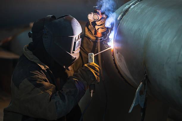 Arc welder stock photo