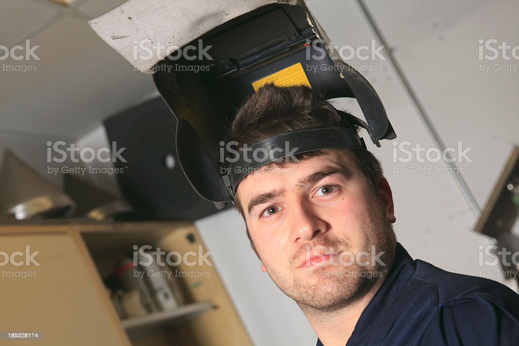 Arc Welder - Proud royalty-free stock photo