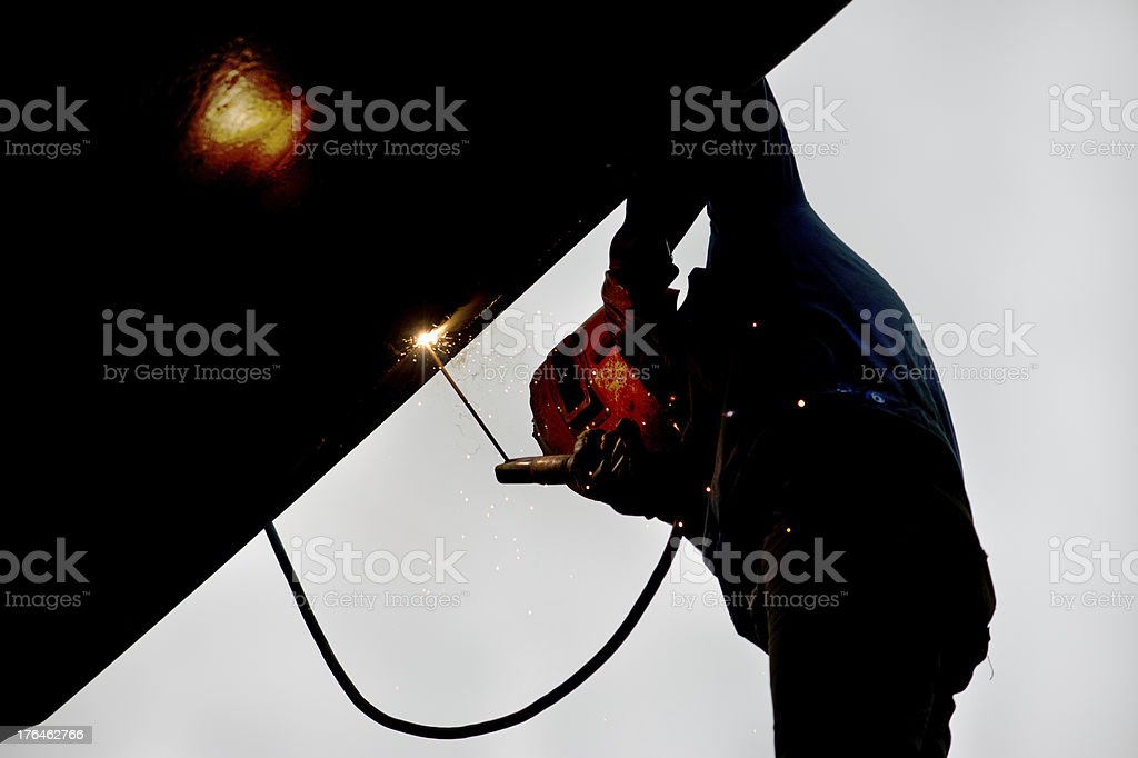 Arc Welding work royalty-free stock photo