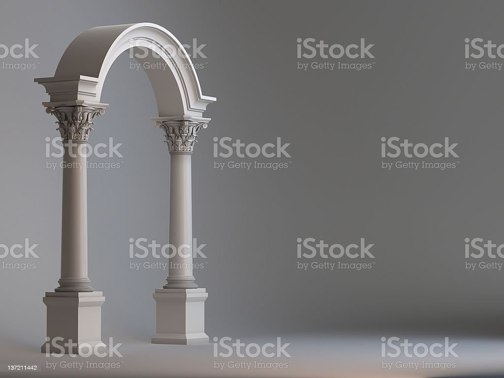 Arc with columns, portico royalty-free stock photo