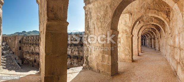 istock Arcade and amphitheater of Aspendos 537627280