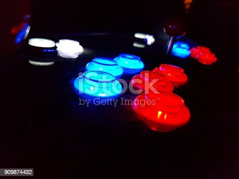 istock Arcade Game Buttons 909874432