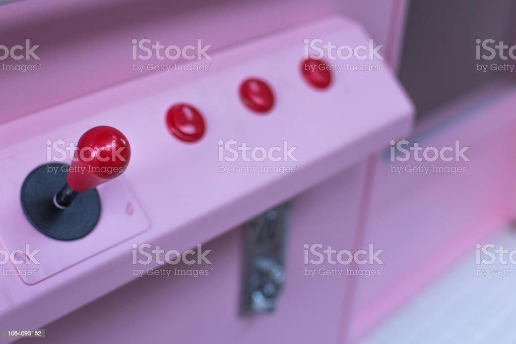 Arcade Game Machine Controls Button Stock Photo - Download