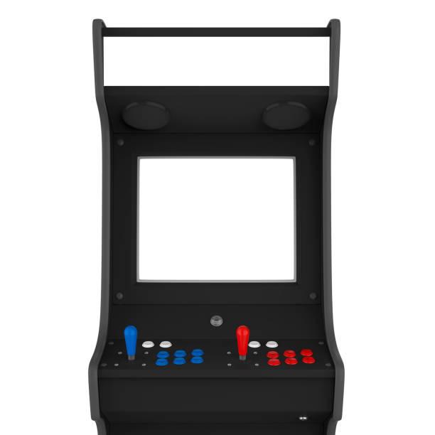 arcade-spiel-maschine isoliert - arkade stock-fotos und bilder