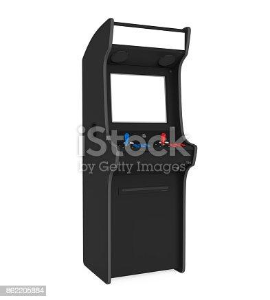 istock Arcade Game Machine Isolated 862205884
