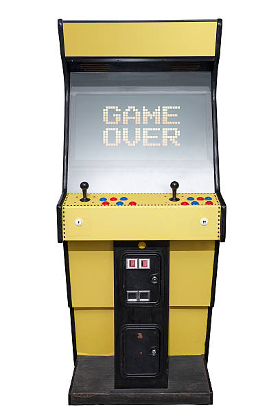 Arcade game over stock photo