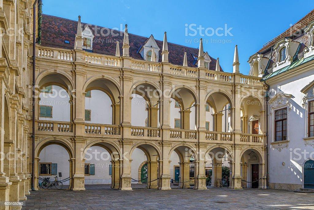 Arcade in Landhaus, Graz, Austria stock photo