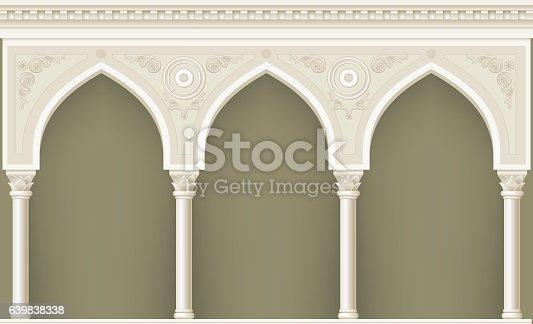 istock Arcade in oriental style 639838338